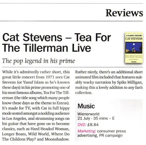 A Classic Concert: Cat Stevens – Tea For The Tillerman Live-594