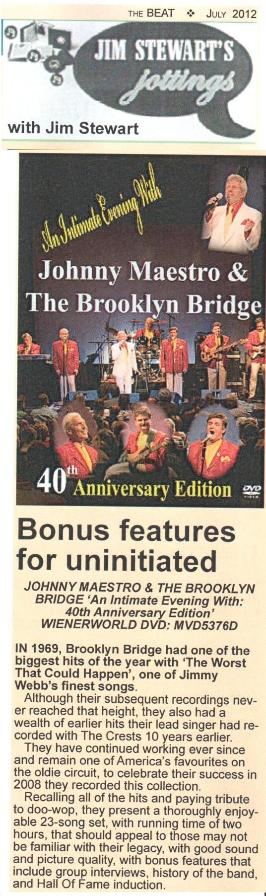 Johnny Maestro & The Brooklyn Bridge - 40th Anniversary Edition-706