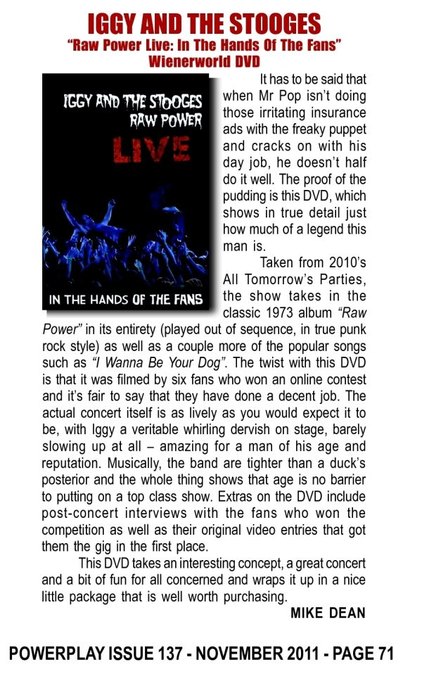 Iggy & The Stooges - Raw Power Live (Blu-Ray)-694