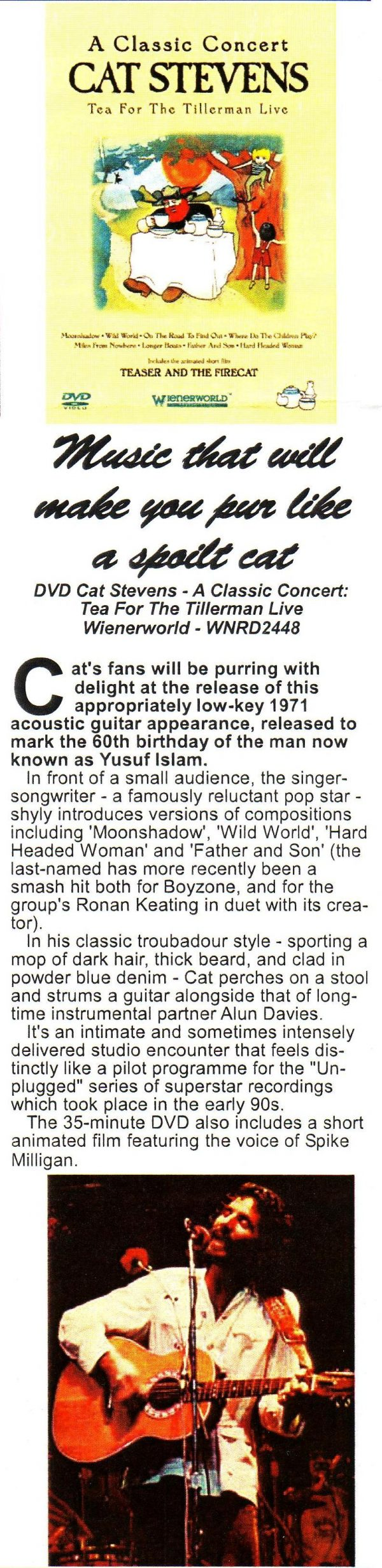 A Classic Concert: Cat Stevens – Tea For The Tillerman Live-593