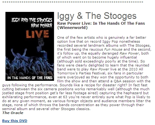 Iggy & The Stooges - Raw Power Live (DVD)-684