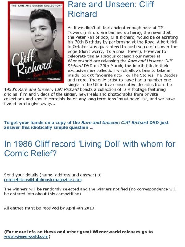 Rare and Unseen – Cliff Richard -543