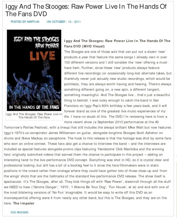 Iggy & The Stooges - Raw Power Live (Blu-Ray)-689