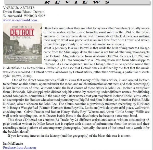 Down Home Blues Detroit - Detroit Special (3 discs)-1781