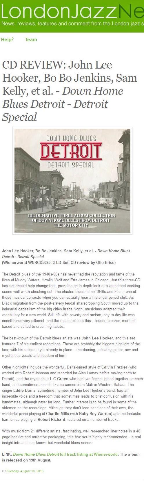 Down Home Blues Detroit - Detroit Special (3 discs)-1782