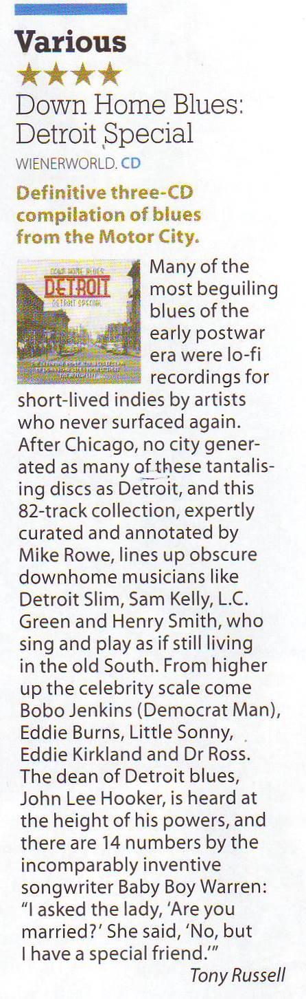 Down Home Blues Detroit - Detroit Special (3 discs)-1779
