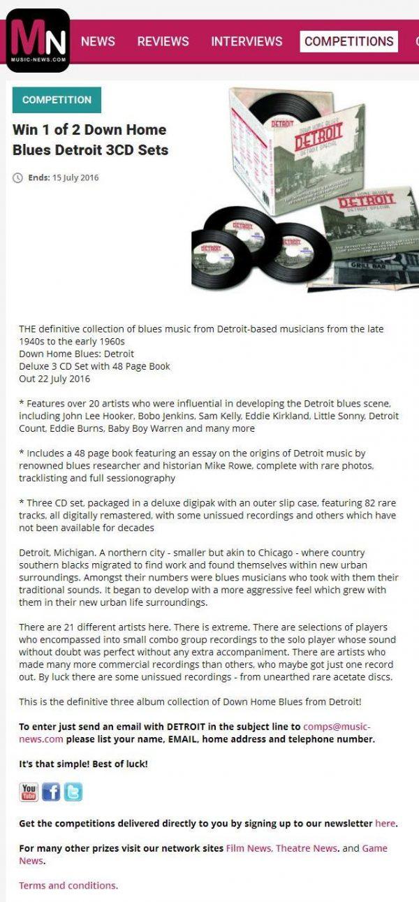 Down Home Blues Detroit - Detroit Special (3 discs)-1788
