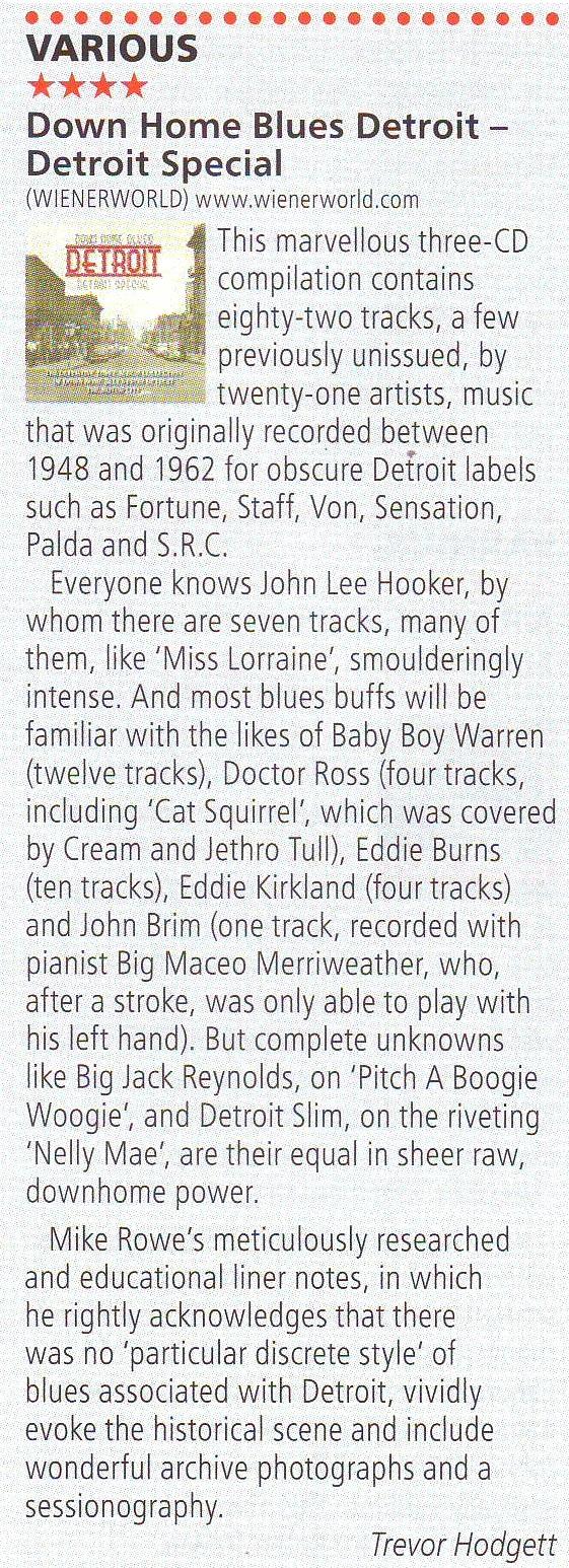 Down Home Blues Detroit - Detroit Special (3 discs)-1784