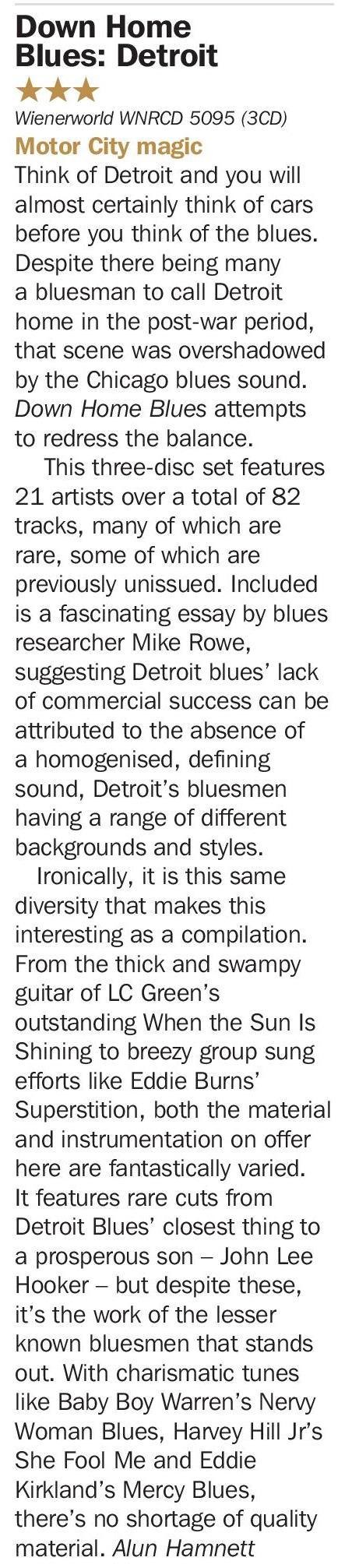 Down Home Blues Detroit - Detroit Special (3 discs)-1783