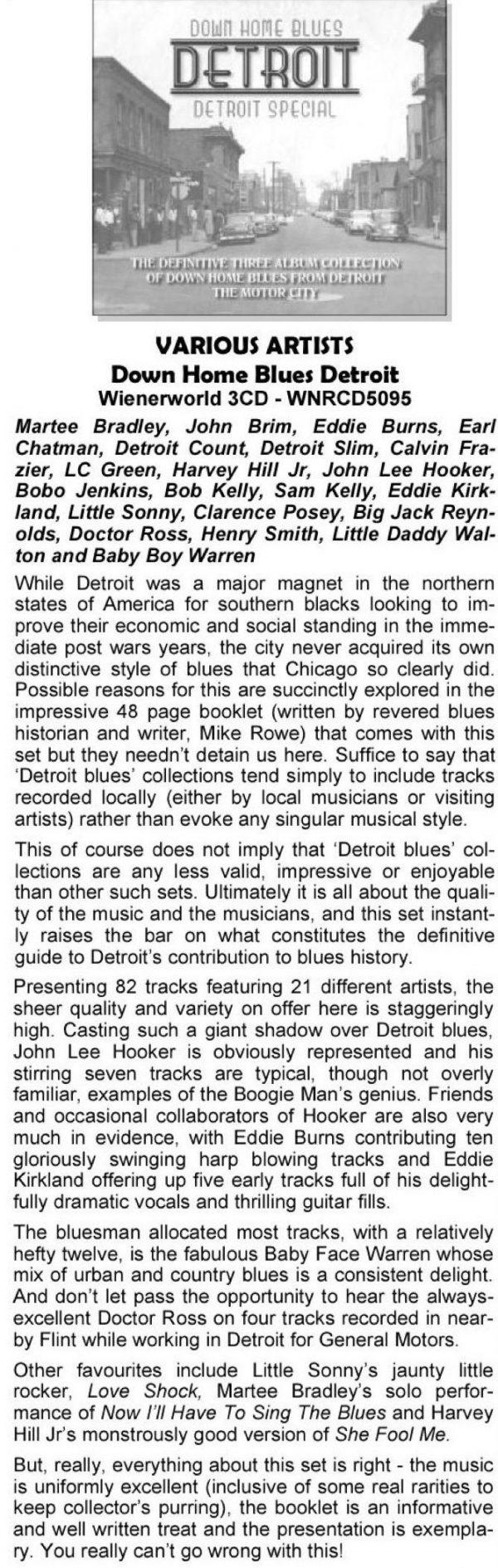 Down Home Blues Detroit - Detroit Special (3 discs)-1787